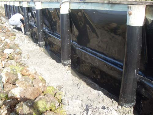 All Around Docks Piling Wrap Amp Seawall Protection